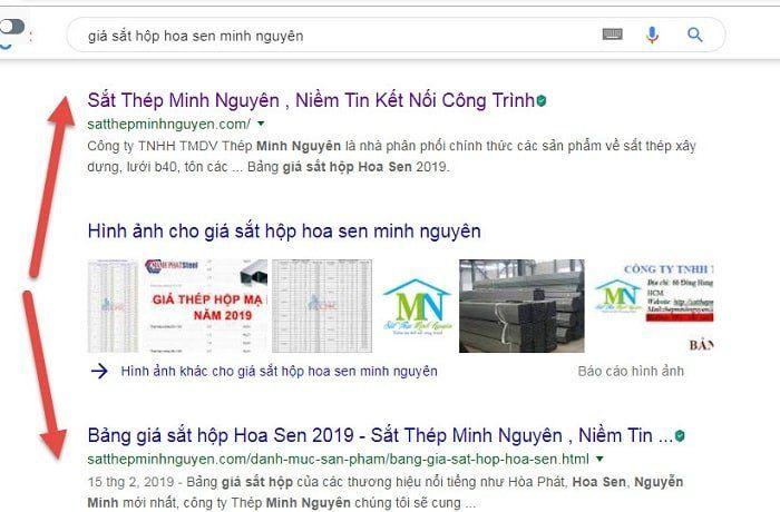 tìm kiếm sắt hộp hoa sen trên google
